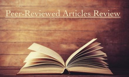 Peer-Reviewed Articles Review: Spring 2020 (Part 3)